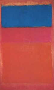 rothko No1 royal red and blue 67 millions de dollars
