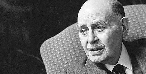 Albert Cohen (1895-1981), écrivain suisse d'expression française. Novembre 1968.     LIP-31437-004 Roger-Viollet/AFP