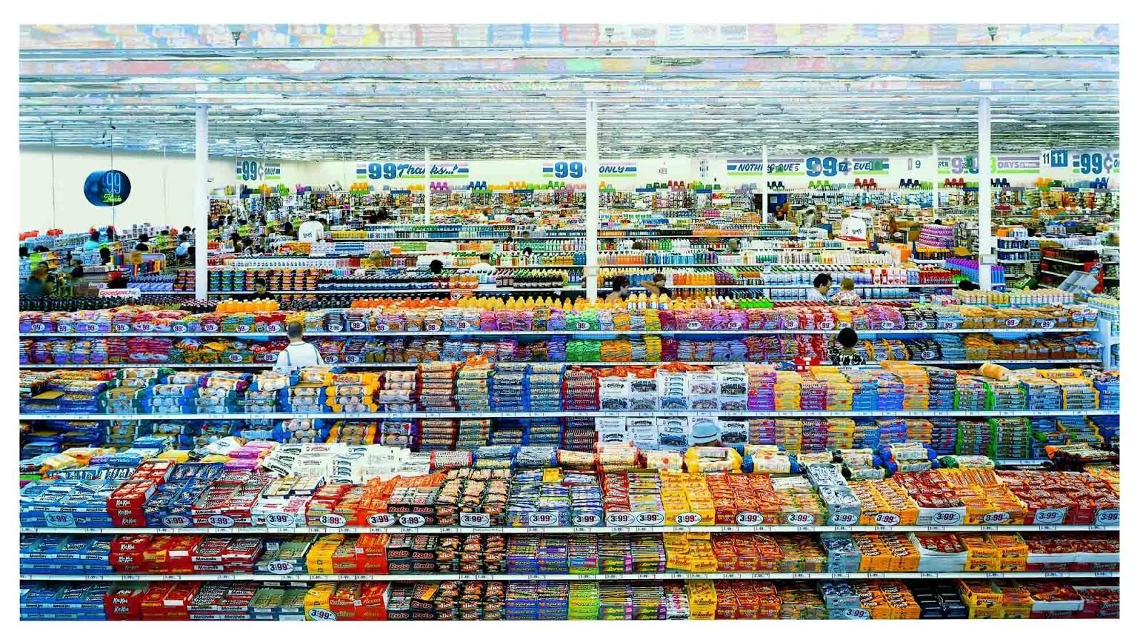 Andreas GURSKY, 99 Cent, 1999. 207 x 337 cm