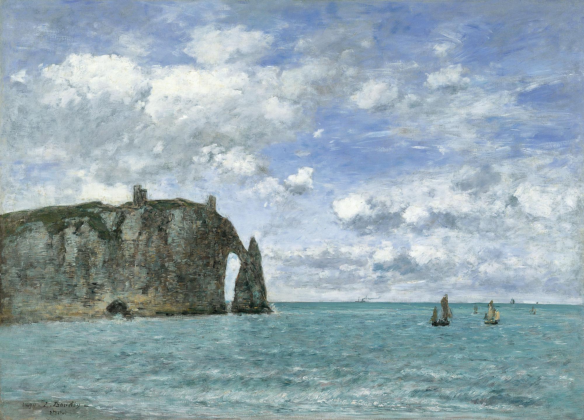 Eugène_Boudin_-_Étretat._La_falaise_d'Aval